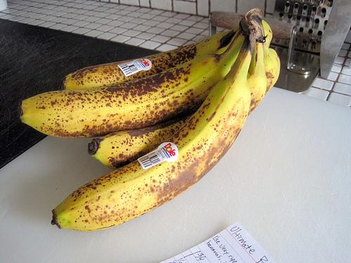 熟したバナナ