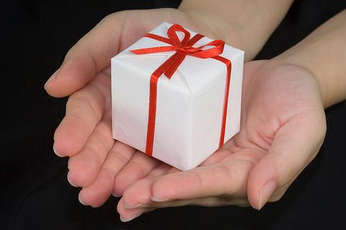 手のひらに贈り物