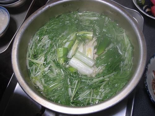香味野菜のお鍋