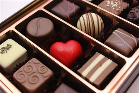 箱詰めのチョコレート